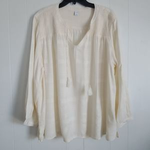 NWT Old Navy Blouse Top Cream XL